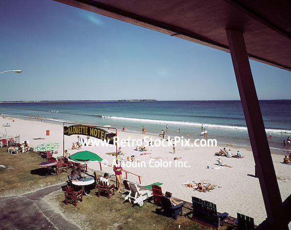 Alouette Motel, Old Orchard Beach, Maine. Balcony with an ocean view.