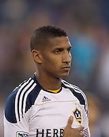 Los Angeles Galaxy defender Sean Franklin (5). In a Major League Soccer (MLS) match, the Los Angeles Galaxy defeated the New England Revolution, 1-0, at Gillette Stadium on May 28, 2011.