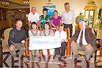 Cunamh Iveragh received a large donation at the weekend from Coisce?im Eile, pictured here at the presentation in the Ring of Kerry Hotel on Saturday were front l-r; Murish O'Donoghue(Chairman Cunamh Iveragh), Mary Moran(Sec-Coisce?im Ele), Joan Ryan(Coisce?im Eile), Maura Moriarty(Coisce?im Elie), Liam Shinnick(Chairman Coisce?im Eile), back l-r from Cunamh Iveragh James O'Sullivan, Bridget O'Mahony, Teresa Cronin & Neillie Moriarty(Coisce?im Eile).