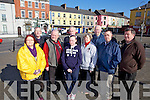 Hackney drivers from Listowel who are concerned over proposed plans to instal Taxi ranks by the town council, pictured last Wednesday in Listowel was l-r: Theresa Kennelly, John Quilter, John Leahy, Laney Clancy, Jerry Hannon, Mai Broderick, DJ Hannon, John Hickey and PJ Broderick.