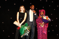 Photo: Richard Lane/Richard Lane Photography. .Serge Betsen Testimonial Dinner at the Hilton on Park Lane. 25/02/2011. Serge Betsen with his wife and mother.