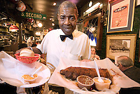 Memphis, Tennessee, February 2009. Charles Vergo's Rendevous Restaurant. Robert Senior has been serving here for 45 years. Rendevous is the prime dry pork ribs place in Town. The city of Memphis is the place where Blues and Soul Music grew famous. Photo by Frits Meyst/Adventure4ever.com