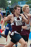 Kelly's Trey Walker runs to a 3rd place finish in the Class 2 Boys 800-meter run.