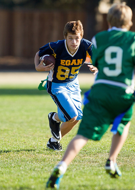 Blach vs. Egan 8th grade flag football, After School Athletics.  Undefeated Blach beats Egan.  October 28, 2011