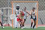 San Diego, CA 05/21/11 - unidentified Cathedral Catholic player, Michaela Guerrera (Coronado #7), Cory Demarco (Coronado #19) and Meganne Weissenfels (Coronado #21) in action during the 2011 CIF San Diego Division 2 Girls lacrosse finals between Cathedral Catholic and Coronado.