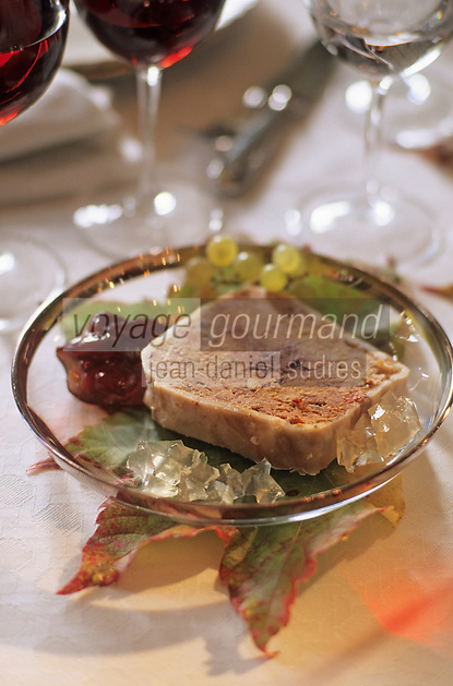 Europe/France/Aquitaine/33/Gironde/Saint-Julien: château Branaire Ducru (AOC Saint-Julien) - Terrine de faisan au foie gras