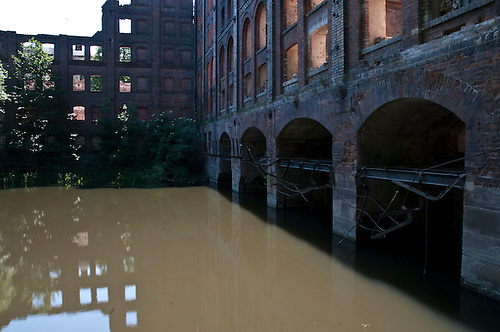 Old burned out mill at Halle Germany