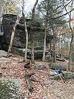 NWA Democrat-Gazette/FLIP PUTTHOFF <br />Devil's Kitchen Trail winds 1.5 miles past bluffs, boulders    Nov. 8 2018    and forest at Roaring River State Park.