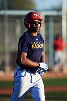 Afat Vivieca (43), from Allentown, Pennsylvania, while playing for the Astros during the Under Armour Baseball Factory Recruiting Classic at Red Mountain Baseball Complex on December 29, 2017 in Mesa, Arizona. (Zachary Lucy/Four Seam Images)
