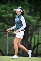 Mi Jung Hur (KOR) after sinking her putt on 2 during round 3 of  the Volunteers of America Texas Shootout Presented by JTBC, at the Las Colinas Country Club in Irving, Texas, USA. 4/29/2017.<br /> Picture: Golffile | Ken Murray<br /> <br /> <br /> All photo usage must carry mandatory copyright credit (&copy; Golffile | Ken Murray)