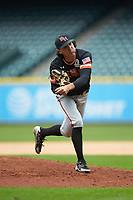Sam Houston State Bearkats relief pitcher Brad Demco (10) in action against the Kentucky Wildcats during game four of the 2018 Shriners Hospitals for Children College Classic at Minute Maid Park on March 3, 2018 in Houston, Texas. The Wildcats defeated the Bearkats 7-2.  (Brian Westerholt/Four Seam Images)