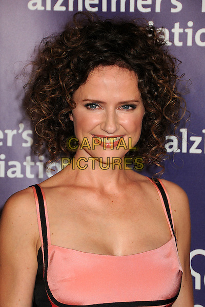 """JEAN LOUISA KELLY .19th Annual """"A Night at Sardi's"""" Benefiting the Alzheimer's Association held at the Beverly Hilton Hotel, Beverly Hills, California, USA, 16th March 2011..portrait headshot peach black smiling  make-up .CAP/ADM/BP.©Byron Purvis/AdMedia/Capital Pictures."""