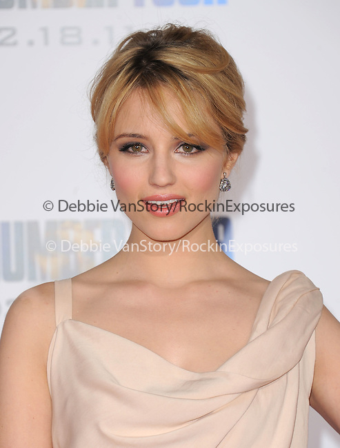 Dianna Agron attends the Dreamworks' World Premiere of I Am Number Four held at The Village Theater in Westwood, California on February 09,2011                                                                               © 2010 DVS / Hollywood Press Agency