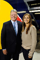 Panasonic NA CEO Joe Taylor, Alex Morgan. The men's national team of the United States (USA) was defeated by Ecuador (ECU) 1-0 during an international friendly at Red Bull Arena in Harrison, NJ, on October 11, 2011.