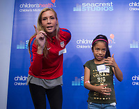 Dallas, TX - April 3, 2017: The USWNT visited patients at Seacrest Studios inside Children's Medical Center.