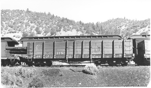 Side view of D&amp;RGW high-side gondola #1757.<br /> D&amp;RGW    Taken by Best, Gerald M.