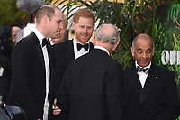 "Prince William, Prince Harry and Prince Charles<br /> arriving for the world premiere of ""Our Planet"" at the Natural History Museum, London<br /> <br /> ©Ash Knotek  D3491  04/04/2019"