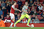 14.09.2017, Emirates Stadium, London, GER, Europa League, Arsenal London vs 1. FC Koeln, im Bild<br /> <br /> von links: Hector Bellerin ( Arsenal #24 ), Simon Zoller ( Koeln #11 )<br /> <br /> <br /> Foto &copy; nordphoto / Treese