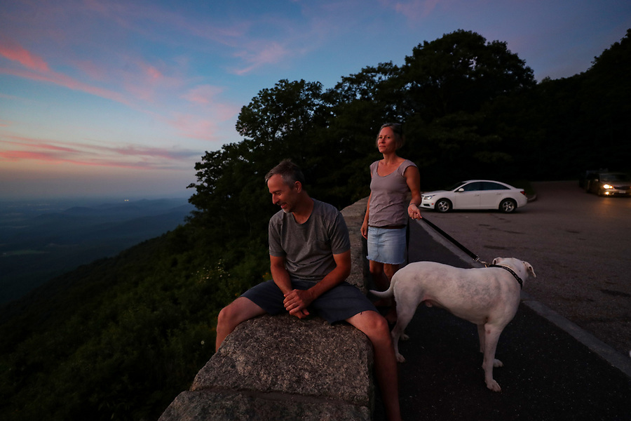Watching the sunset on the Blue Ridge Parkway in Virginia. Photo/Andrew Shurtleff Photography, LLC