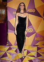 BEVERLY HILLS, CA - JANUARY 07: Actress Angela Sarafyan arrives at HBO's Official Golden Globe Awards After Party at Circa 55 Restaurant in the Beverly Hilton Hotel on January 7, 2018 in Los Angeles, California.