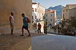 Corsica Street scene, Calvi, West Coast Corsica, Corsica, France, towns in Corsica, French coastal villages, Corsican coast,