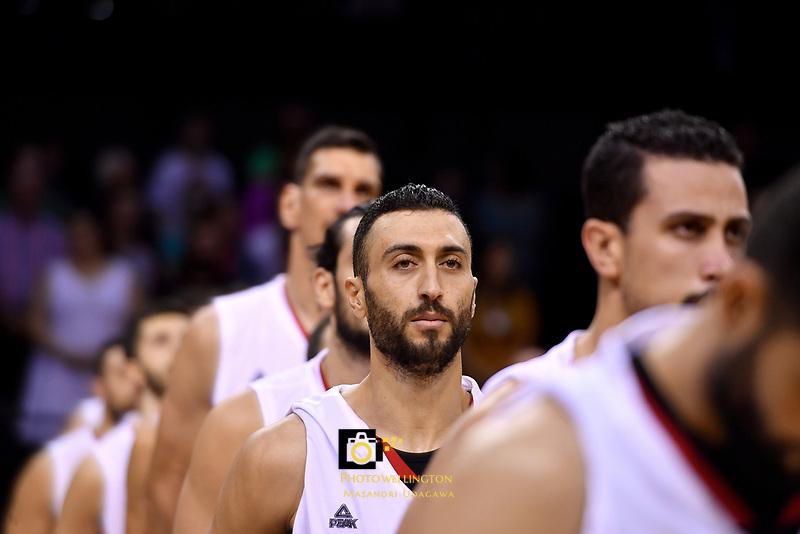 Syria&rsquo;s Sebouth Kharadjian,  FIBA World Cup Basketball Qualifier - NZ Tall Blacks v Syria at TSB Bank Arena, Wellington, New Zealand on Sunday 2 2018. <br /> Photo by Masanori Udagawa. <br /> www.photowellington.photoshelter.com