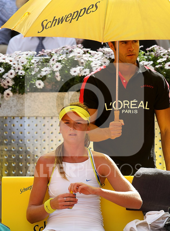 Slovakia's Daniela Hantuchova during her Madrid Open first round match. May 12, 2009. (ALTERPHOTOS/Alvaro Hernandez)