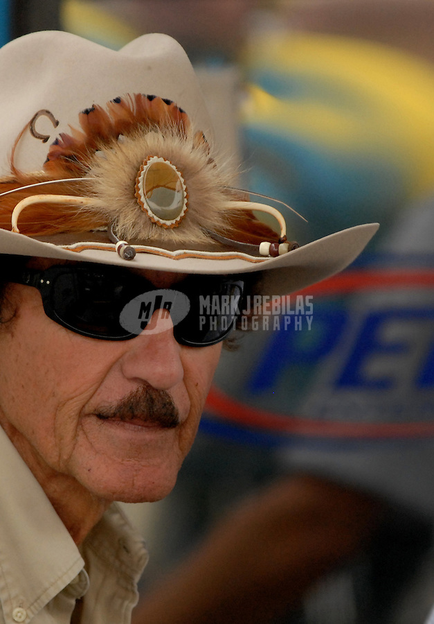 Sept. 8, 2006; Richmond, VA, USA; Nascar Nextel Cup team owner Richard Petty during qualifying for the Chevy Rock and Roll 400 at Richmond International Raceway. Mandatory Credit: Mark J. Rebilas