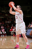 STANFORD, CA - February 10, 2013: Stanford Cardinal's Sara James during Stanford's game against Arizona State at Maples Pavilion in Stanford, California.  The Cardinal defeated the Sun Devils 69-45.