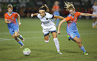 Portland, OR - Wednesday Sept. 07, 2016: Nadia Nadim, Morgan Brian during a regular season National Women's Soccer League (NWSL) match between the Portland Thorns FC and the Houston Dash at Providence Park.