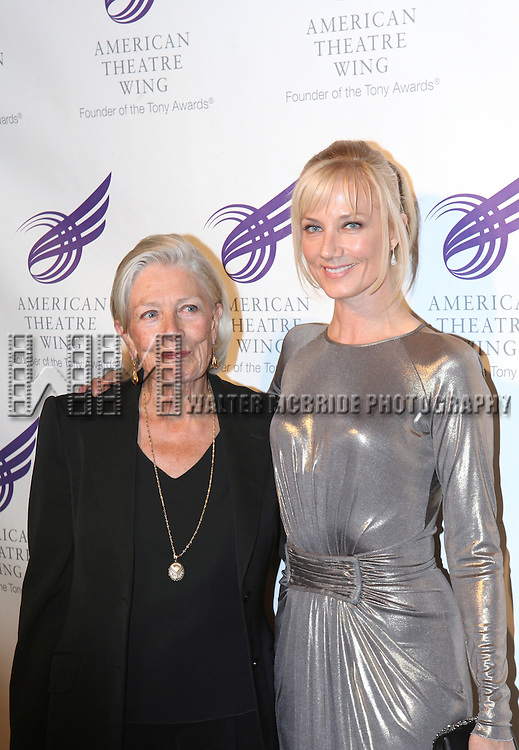 Vanessa Redgrave & Joely Richardson attending the American Theatre Wing's annual gala at the Plaza Hotel on Monday Sept. 24, 2012 in New York.