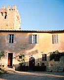 ITALY, Siena,  facade of Castello di Spannochia.