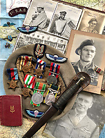 BNPS.co.uk (01202 558833)<br /> Pic: Bosleys/BNPS<br /> <br /> Fred Casey's unique archive sent the bidding through the roof.<br /> <br /> Sold for £25,000 - An extraordinary wartime archive that lift's the veil on the earliest days of the SAS during WW2.<br /> <br /> The late Fred Casey was among the original dozen members of the 1st Special Air Service that was formed in North Africa to wreak havoc behind enemy lines.<br /> <br /> The commando's military possessions included a remarkable album containing previously unseen images of the founding members of the elite force.<br /> <br /> Legendary Captain David Stirling, who formed the 'Who Dares Wins' regiment, and hand-picked the men under his command, is pictured along with his controversial deputy Paddy Mayne , who took over the top secret regiment after Stirling's capture.<br /> <br /> The album sold at Bosley's Auctioneers of Marlow, Bucks, last week for over five times its pre-sale estimate..