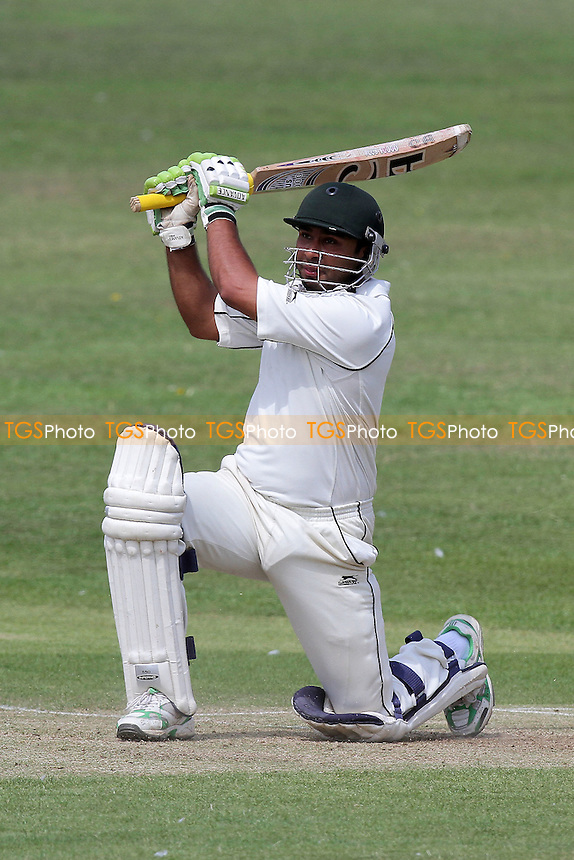 Rizwan Sadiq in batting action for Loughton - Loughton CC (batting) vs Wanstead CC - Essex Cricket League - 30/07/11 - MANDATORY CREDIT: Gavin Ellis/TGSPHOTO - Self billing applies where appropriate - 0845 094 6026 - contact@tgsphoto.co.uk - NO UNPAID USE.