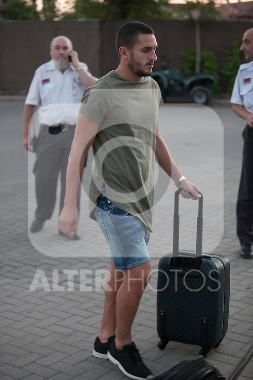 Koke arrives at Soccer City training facility for a Spanish soccer team concentration meeting in Las Rozas, near Madrid, Spain. September  01, 2015. (ALTERPHOTOS/Victor Blanco)