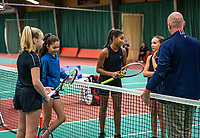 Wateringen, The Netherlands, December 15,  2019, De Rhijenhof , NOJK juniors doubles, Final girls 12 years, ltr: Britt de Pree (NED) Lina Ilahi (NED) Megan Caffin (NED) Silver Bijlsma (NED)<br /> Photo: www.tennisimages.com/Henk Koster