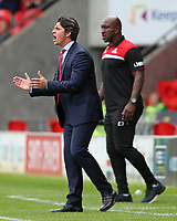 Fleetwood Town manager Joey Barton shouts instructions to his team <br /> <br /> Photographer David Shipman/CameraSport<br /> <br /> The EFL Sky Bet League One - Doncaster Rovers v Fleetwood Town - Saturday 17th August 2019  - Keepmoat Stadium - Doncaster<br /> <br /> World Copyright © 2019 CameraSport. All rights reserved. 43 Linden Ave. Countesthorpe. Leicester. England. LE8 5PG - Tel: +44 (0) 116 277 4147 - admin@camerasport.com - www.camerasport.com