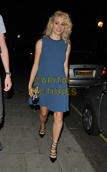 Victoria Louise &quot;Pixie&quot; Lott departs from the stage door after the &quot;Breakfast at Tiffany's&quot; evening performance, Theatre Royal Haymarket, Suffolk Street, London, England, UK, on Saturday 30 July 2016.<br /> CAP/CAN<br /> &copy;CAN/Capital Pictures