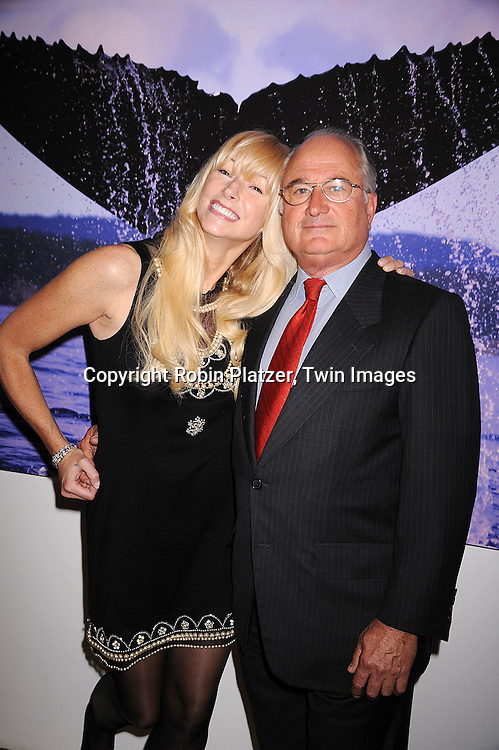 "Lora Drasner and husband Fred Drasner..at the launch of Lora Drasner's first book""Sunsets"" ..at The Marlborough Gallery in New York on April 30, 2008...The photographs were taken on a 49,880 trip around the ..world in a ship owned by her husband. ....Robin Platzer, Twin Images"