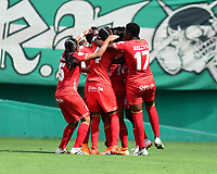 PALMASECA-COLOMBIA ,20-07-2019. Acción de juego entre los equipos  América de  Cali femenino y Deportivo Cali femenino durante partido por la echa  2 de La femenina jugado en el estadio Deportivo /Action game between America de Cali womens and Deportivo Cali  womens during match for date 2th  played at Deprtivo Cali Stadium:Photo :Vzzoriamge /Nelson Rios /Contribudor
