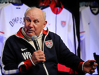 National Soccer Hall of Fame member Walter Bahr during the unveiling of the USA Men's National Team new uniform at Niketown in NYC, NY, on April 29, 2010.
