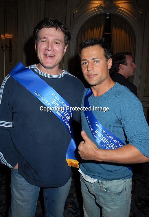 Frank Dicopoulos and Louis Mandylor ..at the Pre-Parade Reception for the 75th Annual Greek Independence Day Parade on April 2, 2006 at The ..Jumeirah Essex House. ..Robin Platzer, Twin Images