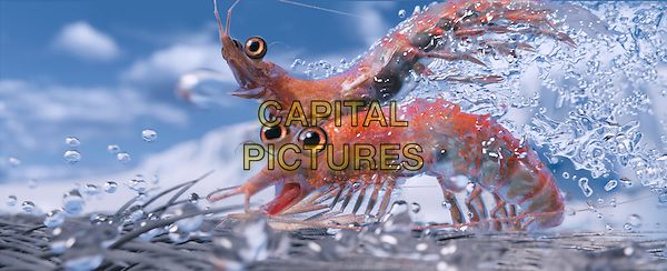 (Top to bottom) Will the Krill, voiced by BRAD PITT; and Bill the Krill, voiced by MATT DAMON.in Happy Feet Two .*Filmstill - Editorial Use Only*.CAP/FB.Supplied by Capital Pictures.