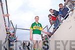 Colm Cooper leaves the pitch after his team beat Waterford last Saturday in Fitzgerald Stadium for the Munster GAA football championship