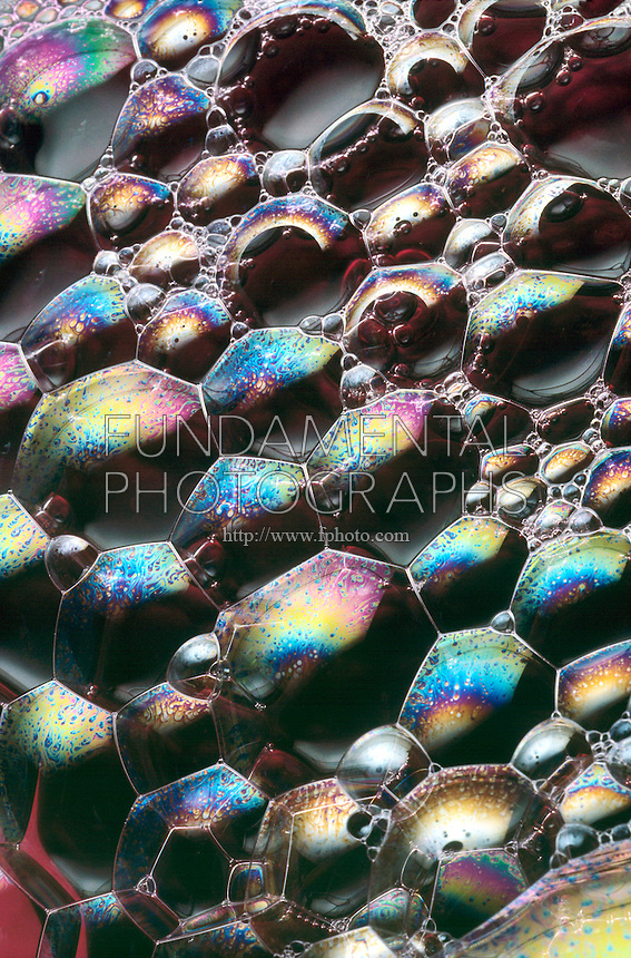 SOAP BUBBLES: THIN FILM INTERFERENCE<br /> Color change indicates bubble is thin at the top<br /> The colours reflected in the bubble depend on the thickness of the film and the angle of incidence.