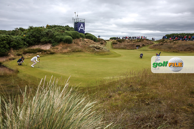 View of the 8th with Joakim Lagergren (SWE) and Maximilian Kieffer (GER)  during Round Three of the 2016 Aberdeen Asset Management Scottish Open, played at Castle Stuart Golf Club, Inverness, Scotland. 09/07/2016. Picture: David Lloyd | Golffile.<br /> <br /> All photos usage must carry mandatory copyright credit (&copy; Golffile | David Lloyd)