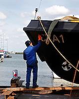 Man verft  een schip