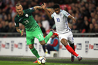 Marcus Rashford of England goes past Aljaz Struna of Slovenia during the FIFA World Cup 2018 Qualifying Group F match between England and Slovenia at Wembley Stadium on October 5th 2017 in London, England. <br /> Calcio Inghilterra - Slovenia Qualificazioni Mondiali <br /> Foto Phcimages/Panoramic/insidefoto
