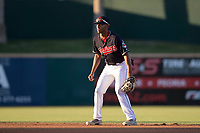 AZL Indians 1 second baseman Richard Palacios (13) during an Arizona League game against the AZL White Sox at Goodyear Ballpark on June 20, 2018 in Goodyear, Arizona. AZL Indians 1 defeated AZL White Sox 8-7. (Zachary Lucy/Four Seam Images)