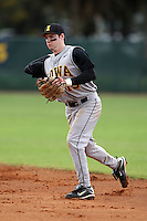 February 27, 2010:  Second Baseman Mike McQuillan of the Iowa Hawkeyes during the Big East/Big 10 Challenge at Raymond Naimoli Complex in St. Petersburg, FL.  Photo By Mike Janes/Four Seam Images
